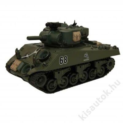 YHToys M4A3 Sherman műanyaglövedékes távirányítós tank 43cm-es olajzöld