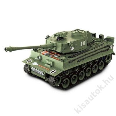 YHToys Tigris műanyaglövedékes távirányítós tank 43cm-es olajzöld