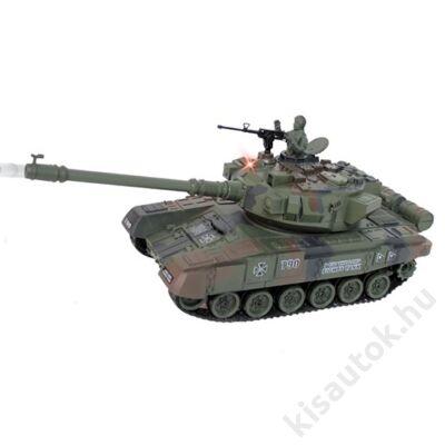 YHToys T90 műanyaglövedékes távirányítós tank 28cm-es olajzöld