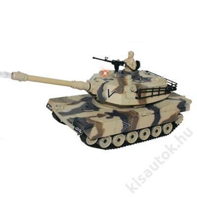 YHToys M1A2 Abrams műanyaglövedékes távirányítós tank 28cm-es sivatagi