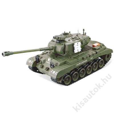 YHToys M26 Pershing műanyaglövedékes távirányítós tank 43cm-es olajzöld