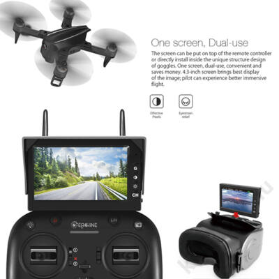 MJX FPV szett Bugs 3 Mini drónhoz (C5810 kamera, D43 kijelző, G3 szemüveg keret)