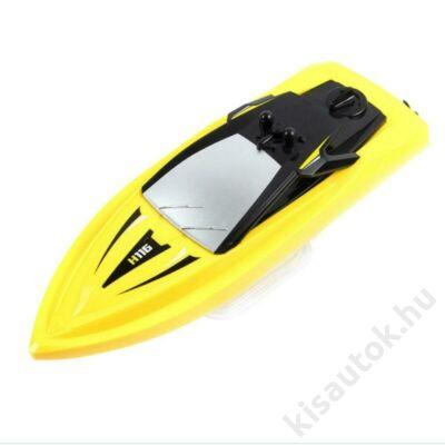 Gyerek távirányítós versenyhajó 23cm TKKJ H116 sárga